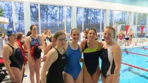 Siegreiche Damen, v.l. Nina Konkel, Petra Wilhelmsen, Susann Mariak, Meike Preuss