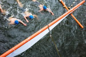 Möllner Seeschwimmen 2016, Zieleinlauf